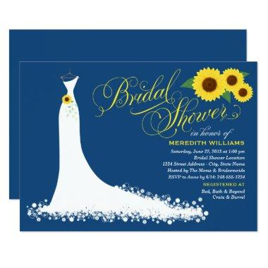 Bridal Shower Invitations | Sunflower Wedding Gown