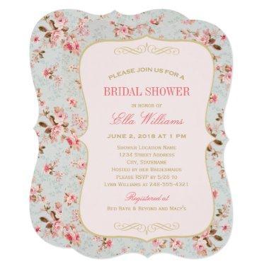 soft garden florals baby shower invitations – unique bridal shower, Baby shower invitations