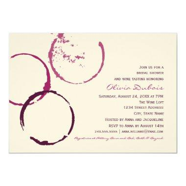 Bridal Shower Invitations | Wine Stain Rings