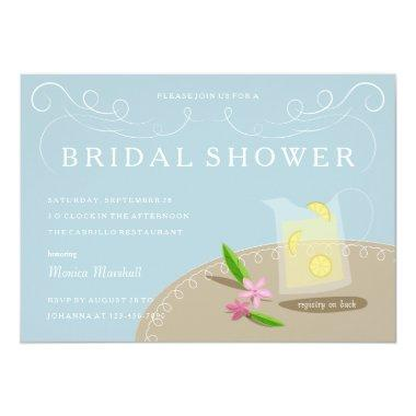 Bridal Shower Luncheon Lemonade Pitcher Invitations