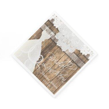 Luncheon - Rustic Barn Wood Design Paper Napkin