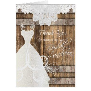 Luncheon - Rustic Wood and Lace