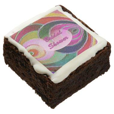 Multicolored Art Spirals Brownies