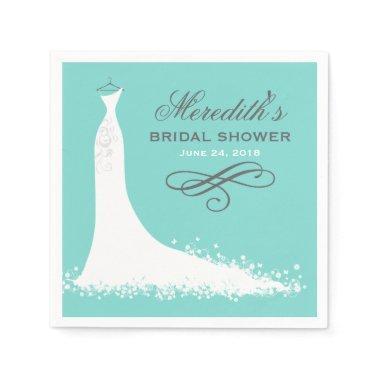 Bridal Shower Napkins | Elegant Wedding Gown