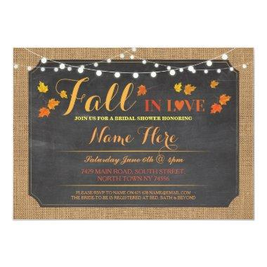 Party Fall in Love leaves Invite
