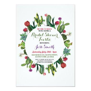 Party Fiesta Cactus Mexican Invite