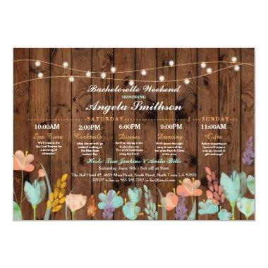 Party Floral Itinerary Bachelorette