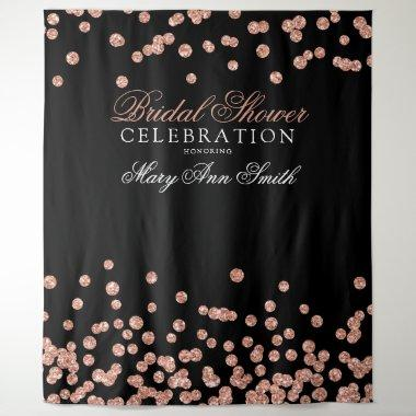 Bridal Shower Party Rose Gold Confetti Backdrop