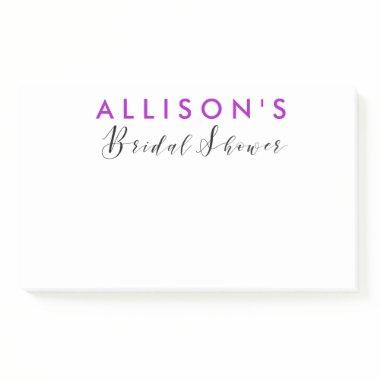 Personalized Favor Post-it Notes