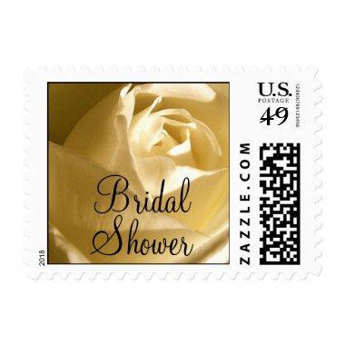 Bridal Shower Postage Stamp Cream Rose