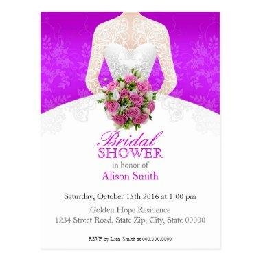 purple invitation Post
