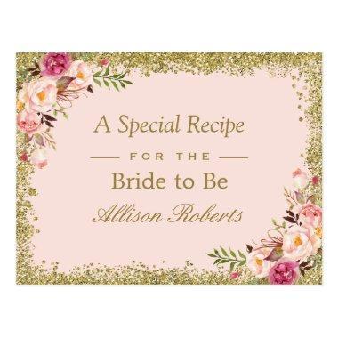 Recipe Blush Gold Glitters Floral Post