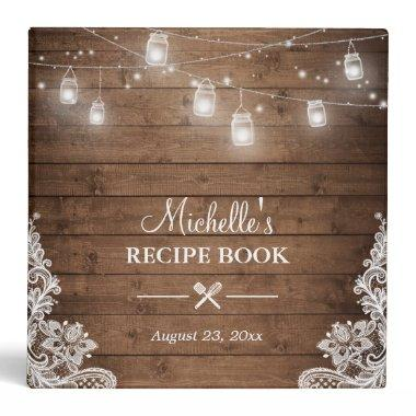 Recipe Book | Mason Jar Lights Lace Binder