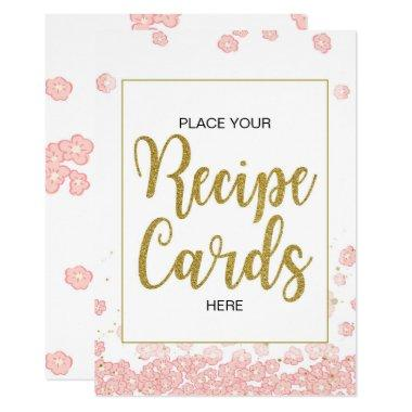 Recipe  Sign | Pink and Gold