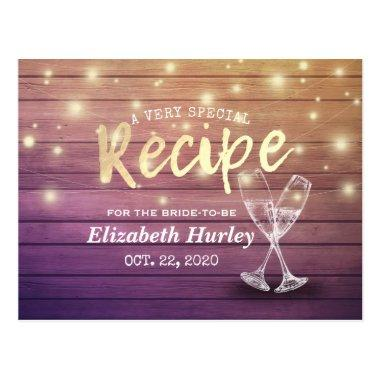 Recipe Champagne Glasses Wood Lights Post