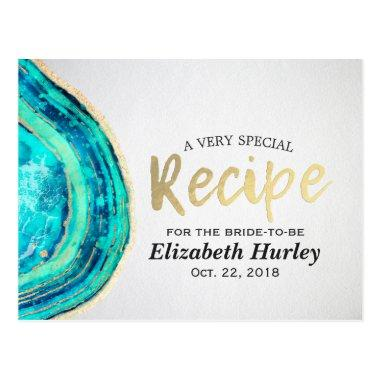 Recipe Teal & Gold Agate Geode Slice Post