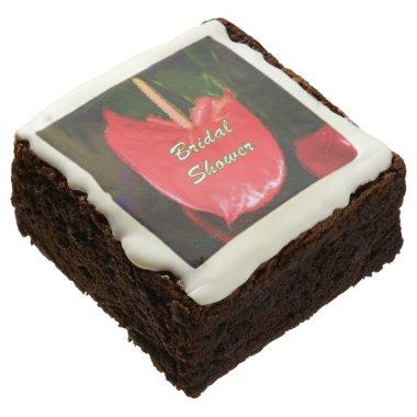 Red Anthurium Art Brownies