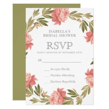 RSVP | Romantic Watercolor Flowers