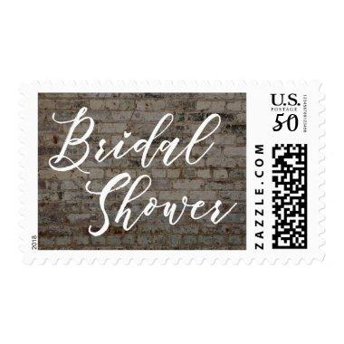 Script w/ Vintage Bricks Photo Postage