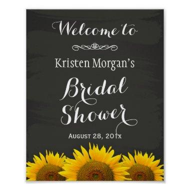 Sign Elegant Sunflowers Chalkboard