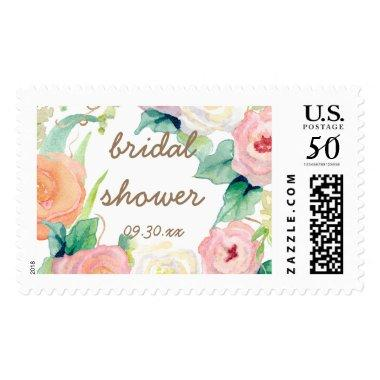 Simple Modern Watercolor Floral Postage
