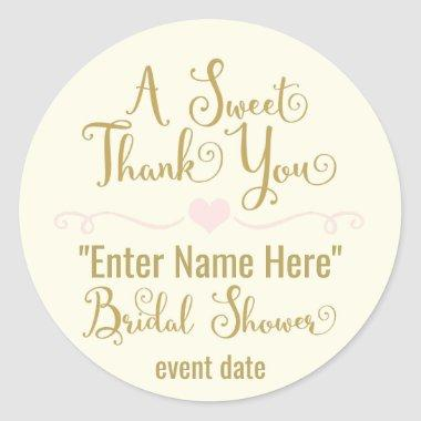 BRIDAL SHOWER STICKER | a sweet thank you