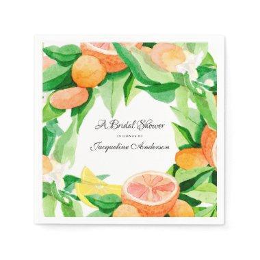 Tea Citrus Leaf Orange Lemon Garden Paper Napkin