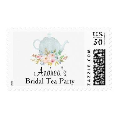 Tea Party Custom Floral Postage