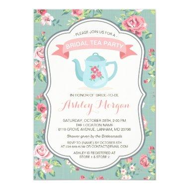 Tea Party Elegant Vintage Floral