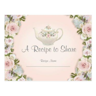 Tea Party Recipe Rose Pretty Floral Post