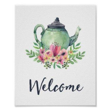 Bridal Shower Tea Party Welcome Sign