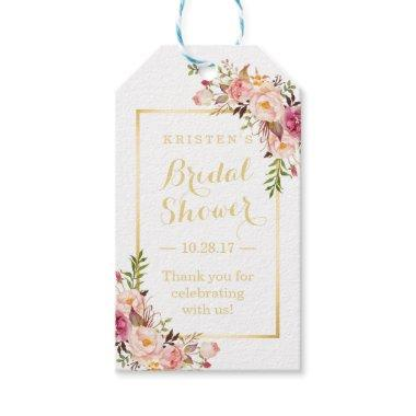 Thank You Elegant Chic Flowers Gift Tags