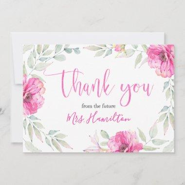 Thank You Pink Botanical Floral