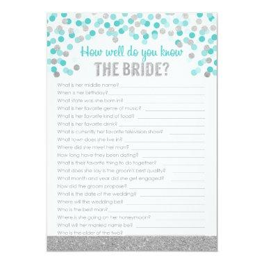 Trivia Game ~ Silver and Turquoise