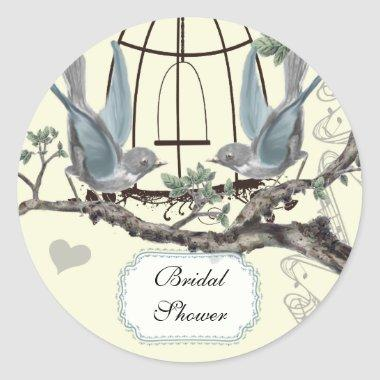 Vintage Bluebird Wedding Seal
