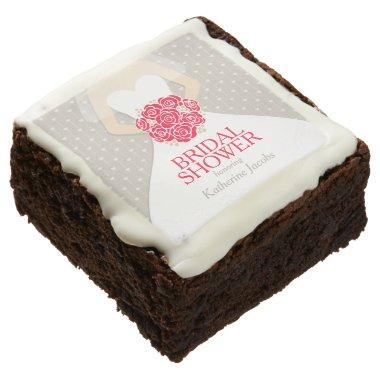 wedding dress custom brownies