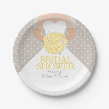 wedding dress custom paper plates