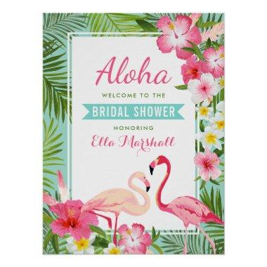 Welcome Sign | Tropical Flamingo