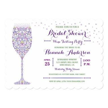 Bridal Shower Wine Tasting Party Invitations