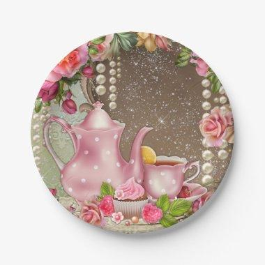 Bridal Tea Party  Paper Plate