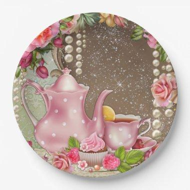 Bridal Tea Party  Paper Plate