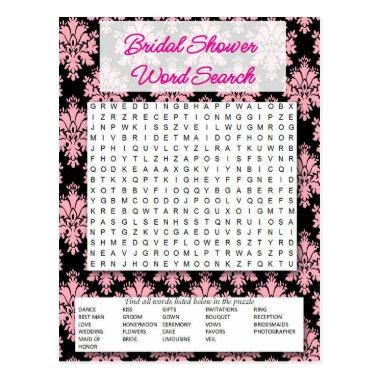 Bridal to shower Word game search- Post
