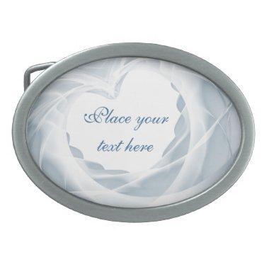 Bridal Veil Oval Belt Buckle