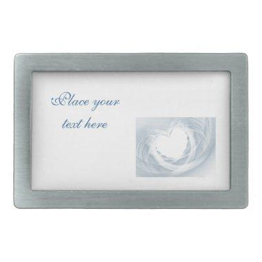 Bridal Veil Rectangular Belt Buckle