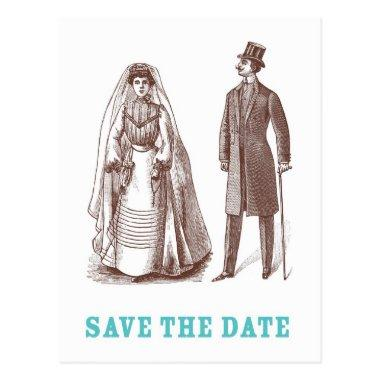 Bride and Groom Save the Date post