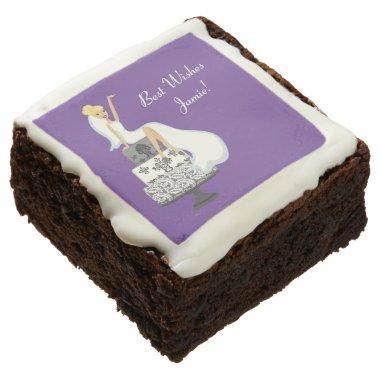 Bride and Wedding Cake   Custom Brownies