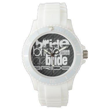 Bride; Black & Dark Gray Stripes Wrist Watches