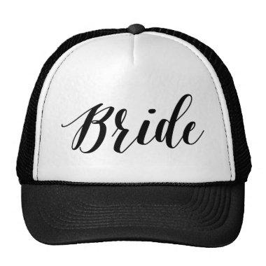 Bride Black Script Hat