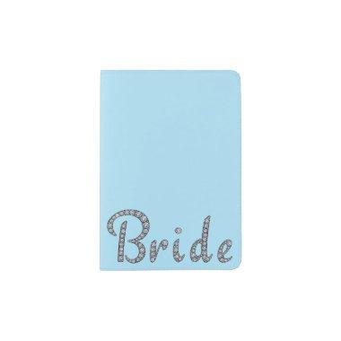 Bride bling passport holder