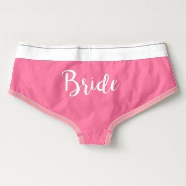 Bride Boyshorts Underwear - Pink and White